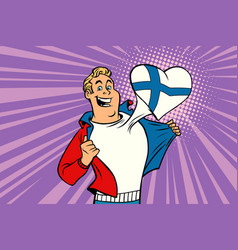 sports fan loves finland vector image