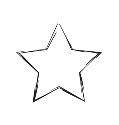 Star patriot symbol grunge shape vector