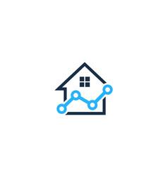 Stats house logo icon design vector