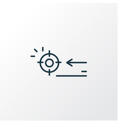Targeting icon line symbol premium quality vector