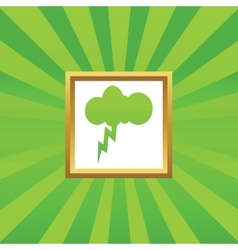 Thunderstorm picture icon vector image