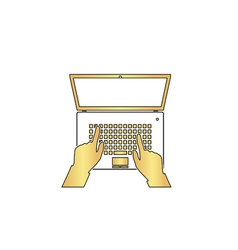 use laptop computer symbol vector image