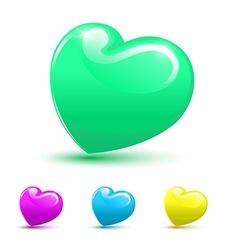 Valentine heart 3d set vector