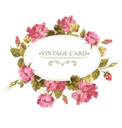 Vintage Greeting Card Watercolor vector image