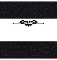 White Paper Sheet on Dark Halloween Background vector image
