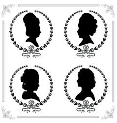 Cameo set vector image