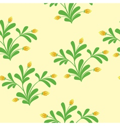 floral light seamless pattern vector image