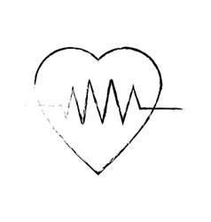 heartbeat heart pulse wellness care icon vector image vector image