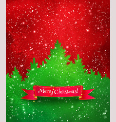 christmas red and green background vector image