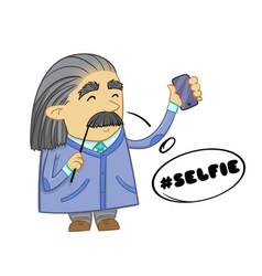 cute scientist cartoon design of funny scientist vector image vector image