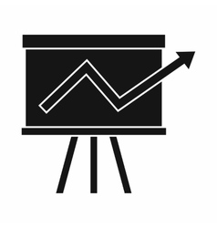 Flip chart with statistics icon simple style vector image vector image