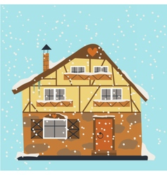 German building under snow vector image