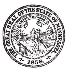 The great seal of the state of minnesota vintage vector