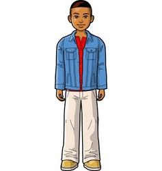 Young Ethnic Boy vector image vector image