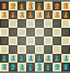 abstract chess vector image vector image