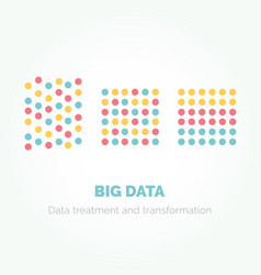 big data minimalistic infographics design vector image vector image