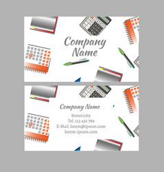 business card of office tools vector image vector image