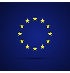 Circular stars of the European Union on blue vector image vector image