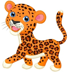Cute baby leopard cartoon vector image