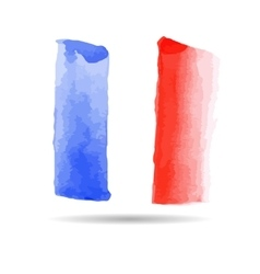 Emblem of the French flag vector image
