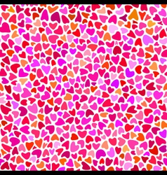 Seamless hand drawn pattern with hearts vector image vector image