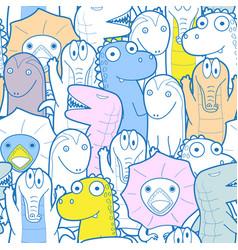 seamless lizard cartoon vector image