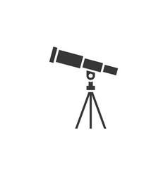 telescope icon vector image vector image