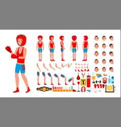 boxing player animated character creation vector image vector image