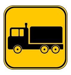 Cargo car button vector image vector image