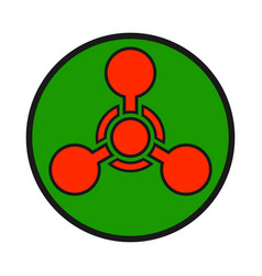Chemical weapon warning hazard sign vector