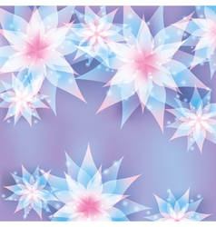Floral background Invitation or greeting card vector image vector image