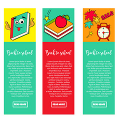 set of bright banners back to school vector image