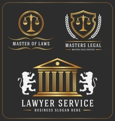 Set of lawyer service office logo template design vector image