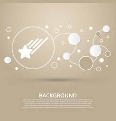 star icon on a brown background with elegant vector image