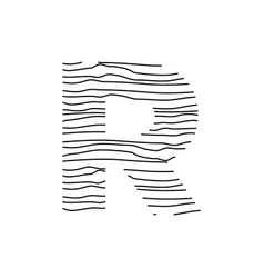 Abstract line initial r vector