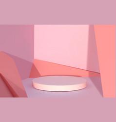 abstract podium realistic 3d round platform vector image
