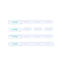 activate and disable buttons ui elements kit vector image