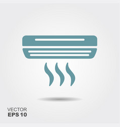 air conditioner icon in flat style isolated on vector image