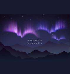 aurora borealis northern vector image