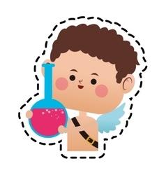 baby cupid cartoon icon vector image