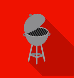barbecue icon in flat style isolated on white vector image
