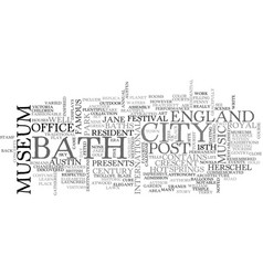 Bath england text word cloud concept vector