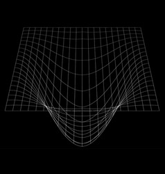 Bent grid in perspective 3d mesh with convex vector
