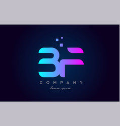 Bf b f alphabet letter logo icon combination vector