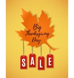 Big Thanksgiving Day sale abstract banner vector