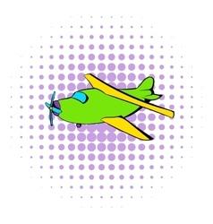 Biplane icon comics style vector image