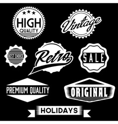Black and White Retro Stamps and Badges vector