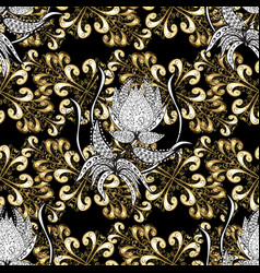 Brilliant lace stylized flowers paisley oriental vector