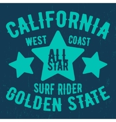 California vintage stamp vector image