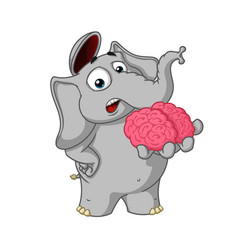 Cartoon brain in hand gives your mind vector